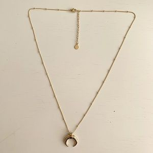 18k gold plated crescent moon dainty necklace